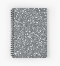 Silver Glitter Sparkles Texture Photography Spiral Notebook