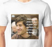 Information quote by Aaron Swartz Unisex T-Shirt