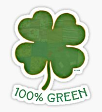 Irish Shamrock - 100% Green Sticker