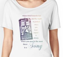 There is a Song, Doctor Who, Husbands of River Song Women's Relaxed Fit T-Shirt