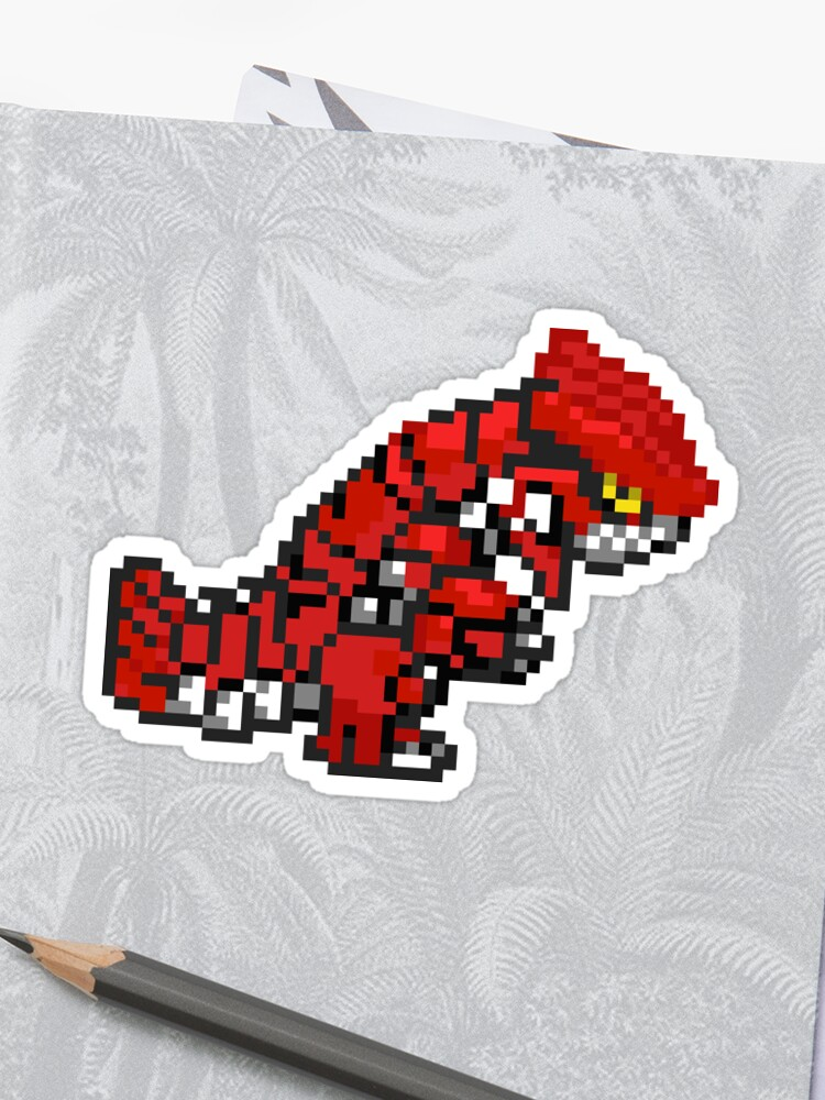 Pixel Art Groudon Sticker