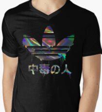 Süchtiger holographisch T-Shirt mit V-Ausschnitt für Männer