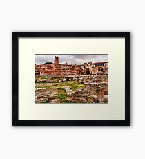 Trajan's Market and Forum - Impressions Of Rome Framed Print