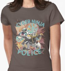 Cyber ninja police Women's Fitted T-Shirt