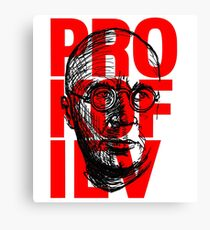 Prokofiev in red and black Canvas Print