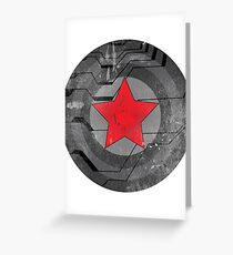 Winter Solider Shield Greeting Card
