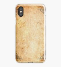 Framed Corners Aged Paper iPhone Case