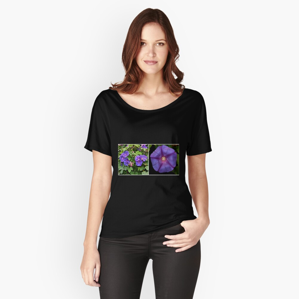 Morning Glory Twice Over Women's Relaxed Fit T-Shirt Front