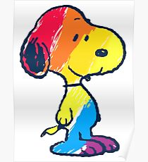 Snoopy Colorful Poster