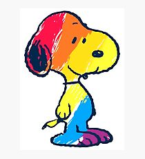 Snoopy Colorful Photographic Print