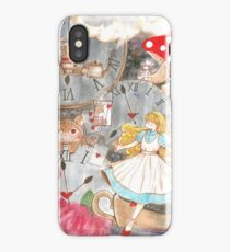 Alice's time travel in wonderland iPhone Case/Skin