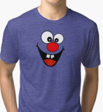 Cracked Tooth - Big Red Nose Cartoon Head Decal Kids Bag Tee Tri-blend T-Shirt