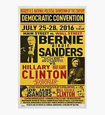 Bernie vs. Hillary poster Photographic Print