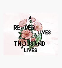 A Reader  Photographic Print