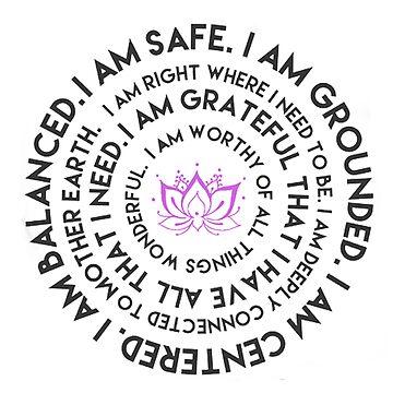 I Am Mantra Round by Downyart