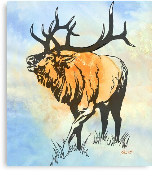 Bull Elk in the Roar by Patricia Howitt