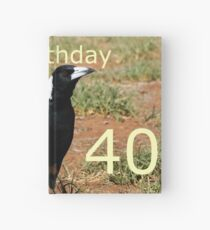 40th B'day Magpie Hardcover Journal