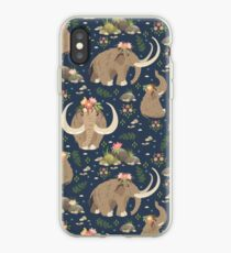 Cute mammoths iPhone Case