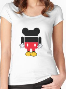 Android Mickey Women's Fitted Scoop T-Shirt