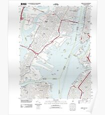 USGS TOPO Map New Jersey NJ Jersey City 20110609 TM Poster