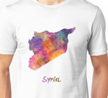 Syria in watercolor Unisex T-Shirt