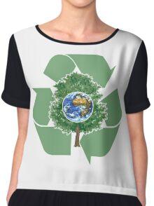 recyle earthday Chiffon Top