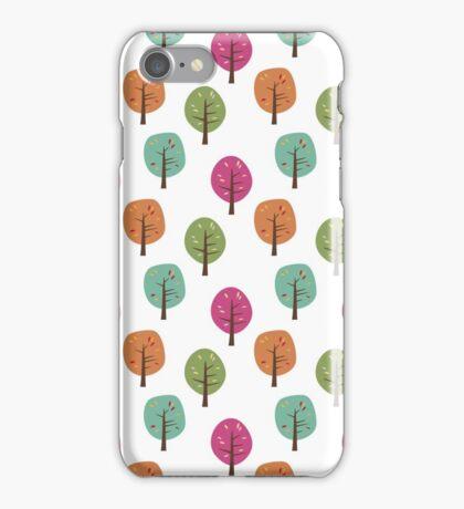 Retro Fall Trees iPhone Case/Skin