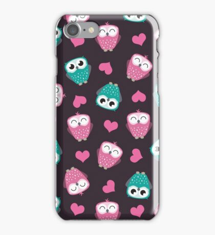 Owls and Hearts iPhone Case/Skin