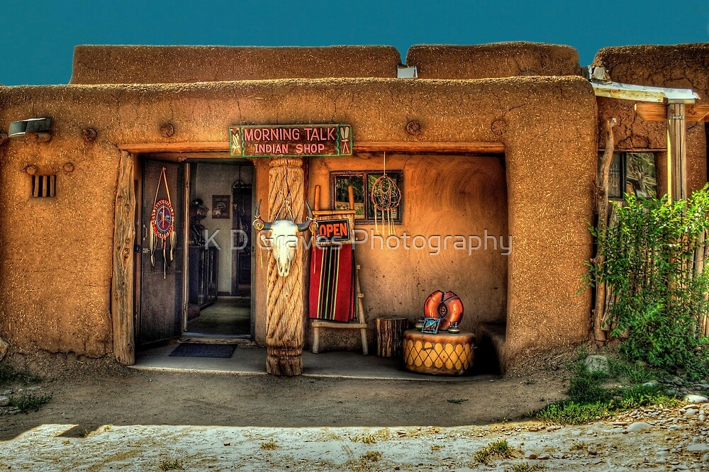 """"""" Morning Talk On Taos Pueblo"""" by K D Graves Photography"""