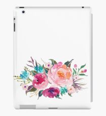 Floral Watercolor Bouquet Turquoise Pink iPad Case/Skin