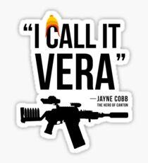 Jayne + Vera (black letters) Sticker