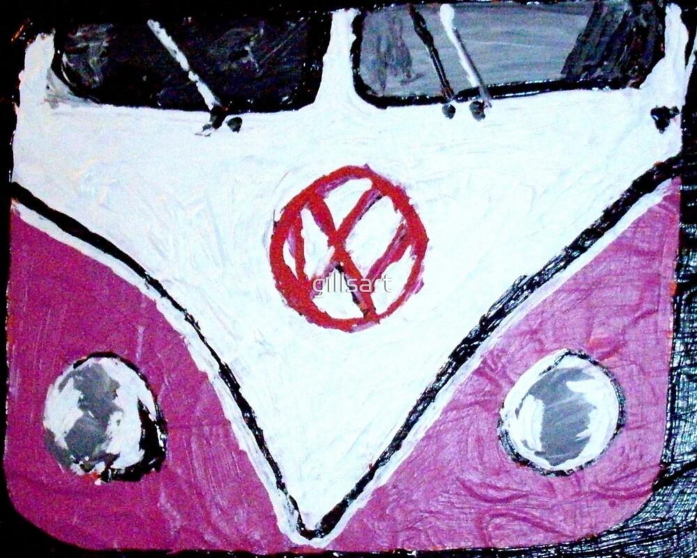 My pink VW by gillsart