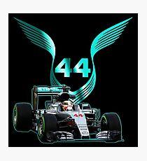 Lewis Hamilton F1 with LH 2016 44 car Photographic Print
