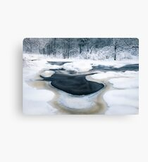 Cold river Canvas Print