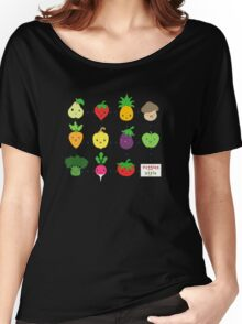 Cute Veggies Foods Women's Relaxed Fit T-Shirt