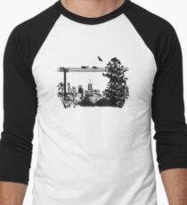 Brisbane Evening Skyline Men's Baseball ¾ T-Shirt