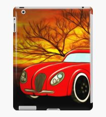 A Butch Red Muscle Car iPad Case/Skin