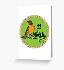 11 Months Greeting Card