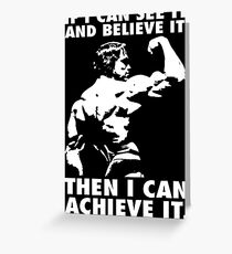 See, Believe, Achieve Greeting Card