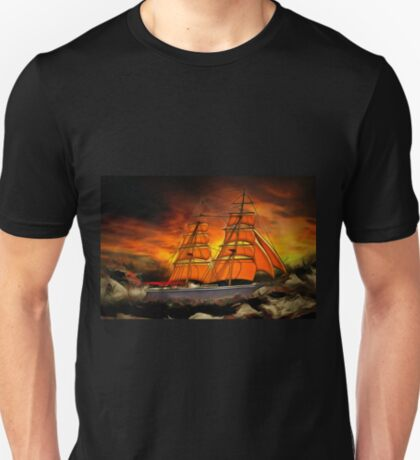 A Brig with Red Sails T-Shirt