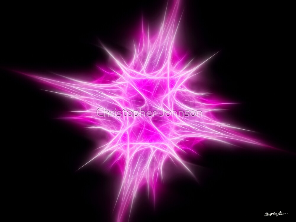 Hot Pink Star 1 by Christopher Johnson