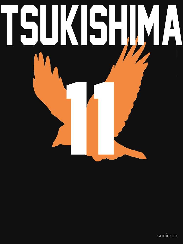 Haikyuu!! Jersey Tsukishima Number 11 (Karasuno) by sunicorn