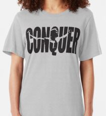 CONQUER (Arnold Iconic Schwarz) Slim Fit T-Shirt