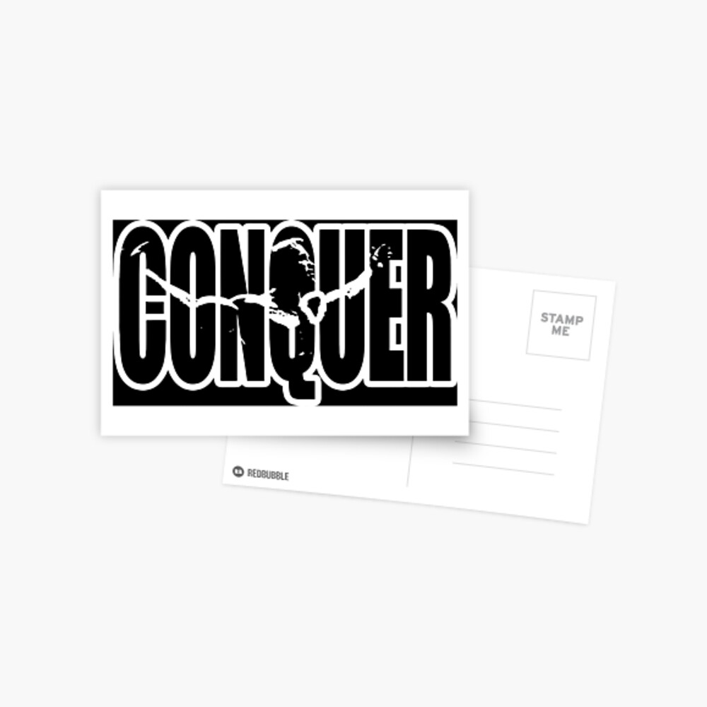 CONQUER (Arnold Iconic Weiß) Postkarte