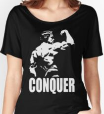 CONQUER (Arnold Back Bicep Flex) Women's Relaxed Fit T-Shirt