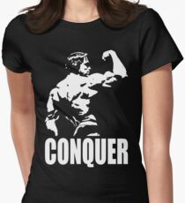 CONQUER (Arnold Back Bicep Flex) Women's Fitted T-Shirt