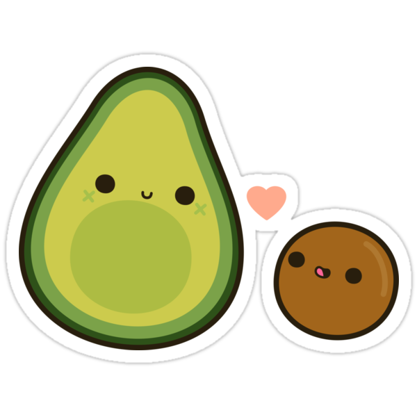 """Cute avocado and stone"" Stickers by peppermintpopuk ..."