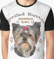 Yorkshire Terrier Spoiled Rotten Graphic T-Shirt