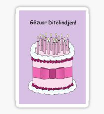 Happy Birthday in Albanian Sticker