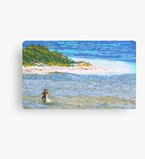 Net fishing in Orient Bay Canvas Print